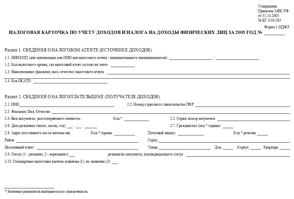 Декларация Форма Кнд 1151020