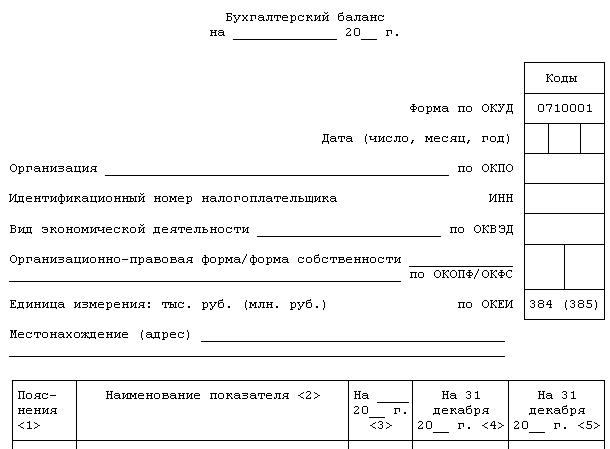 Форма по окуд 0710001 бланк 2015 скачать