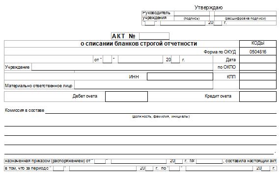 акт списания испорченного аттестата образец - фото 2