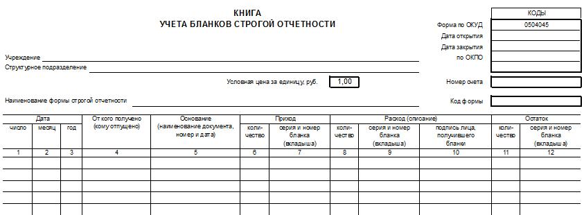 порядок учета бланков строгой отчетности в организации - фото 8
