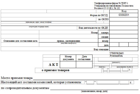 Образец Заполнения Акт О Приемке Товаров - фото 10