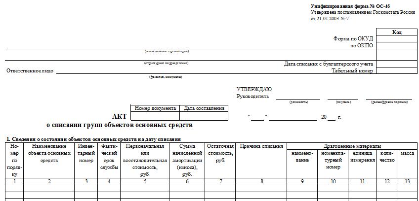 Унифицированная Форма Ос 4 Образец Заполнения - фото 3