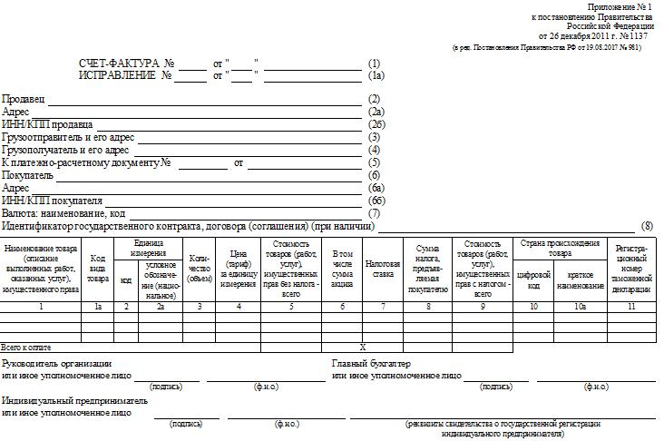 приложения 1 к Постановлению Правительства РФ от 26.12.2011 № 1137 (в ред. от 25.05.2017)