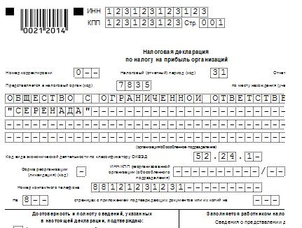 бланк декларации на прибыль 2014 скачать - фото 4