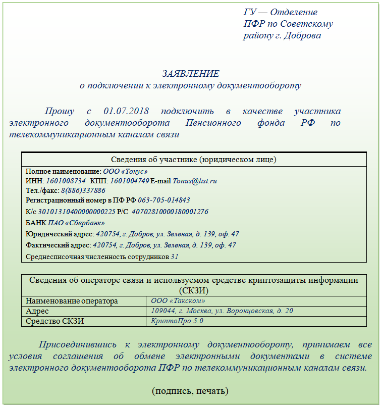 Соглашение с пенсионным фондом на электронную отчетность в москве ип прием работника регистрация в фондах