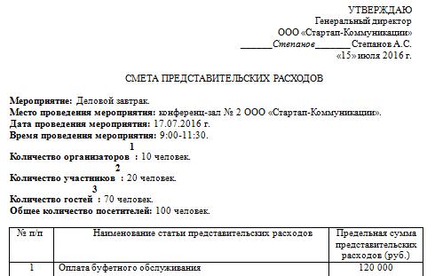 Обоснование Представительских Расходов Образец - фото 6