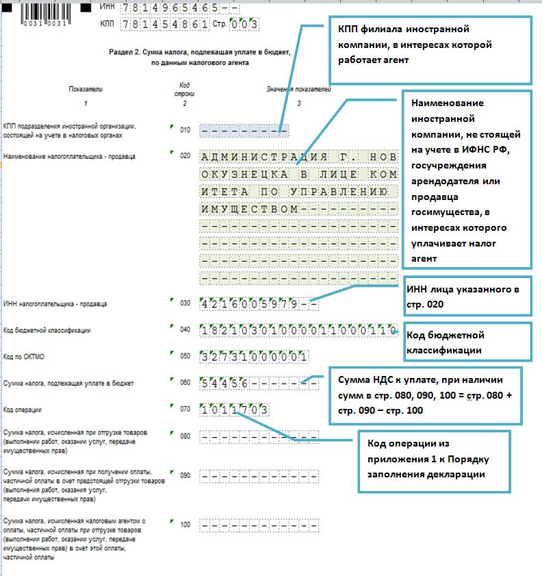 Форма декларации и порядок заполнения